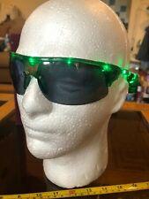 Light Up LED Novelty Glasses Shades Green New Sunglasses Eagle Motif