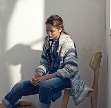 """ISABEL MARANT """"Persan"""" Cardigan Sweater Coat SZ 34 Chunky Knit Tonal Blue"""