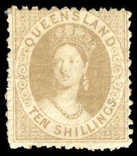"Queensland 1880 QV ""Chalon Head"" 10s bistre-brown MLH. SG 126."