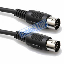 6 PIN DIN PLUG TO PLUG AUDIO CABLE MIDI LEAD 1M FOR ROLAND SYNTHESIZER MIXER