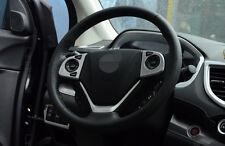 Chrome High Configuration Steering Wheel Cover For Honda CR-V CRV 2012-2016 2pcs