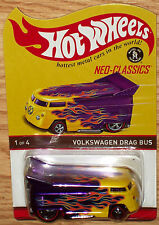 NICE HOT WHEELS 2016 NEO-CLASSICS VW DRAG BUS CLUB EXCLUSIVE ONLY 7500 MADE