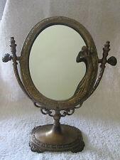Wundervoller Kipp Spiegel Jungfrau Messing brüniert Jugendstil