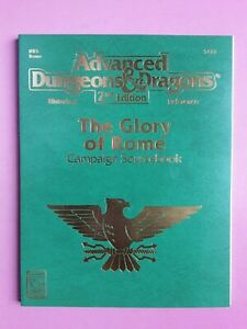 THE GLORY OF ROME CAMPAIGN SOURCEBOOK - TSR HISTORICAL RPG ROLEPLAYING AD&D 2ND
