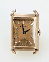 1941 Bulova General 14K Rose Gold Filled Mens Wrist Watch For Repair 18512