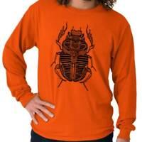 Ancient Egyptian Holy Scarab Beetle Spiritual Long Sleeve Tshirt Tee for Adults