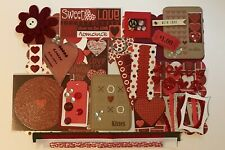 With Love Custom Mini Book Chipboard Album Kit Scrapbook Valentines