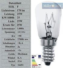 10 Backofenlampen 25w -300° Glühbirnen Glühlampen E14