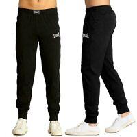 Pantalone tuta uomo EVERLAST sportivo pantaloni cotone jogging non felpato nero