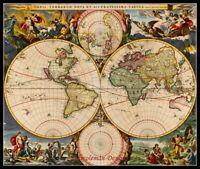 Chart Needlework Embroidery DIY - Counted Cross Stitch Patterns - New World Map