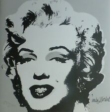 ANDY WARHOL MARILYN MONROE 1986 HAND NUMBERED 1920/2400 LITHOGRAPH signed