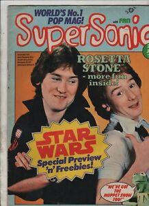 SUPERSONIC MAGAZINE 1978 Bay City Rollers/Rosetta Stone/Flintlock/Star Wars