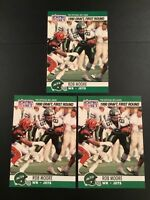 1990 Pro Set #694 ROB MOORE ROOKIE Lot 3 New York Jets First Round Draft Pick