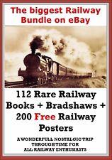 100+ Antique Books Vintage Locomotive Railway Train Steam Inc Bradshaws DVD Disc