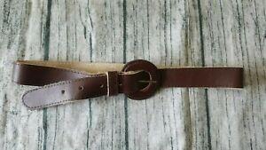 Sportsgirl Belt brown chocolate 100% leather