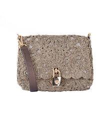 DOLCE & GABBANA Baroque Gold Embroidery Hobo Shoulder Bag MISS BONITA 05598