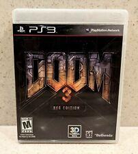 2012 Ps3 Bethesda Doom 3 Bfg Edition Doom Doom 2 Complete Cleaned Tested