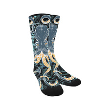Unique Design Octopus and Anchors Hosiery Knee-High Socks Leg Warmers For Unisex