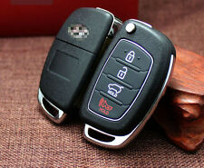 4BTN Folding Flip Remote Key Shell Case Fob Cover Fit For HYUNDAI ix45 Santa Fe