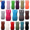 Womens Racer Back Body-con Muscle VEST Ladies Gym Summer Top lot UK 8-26 new top