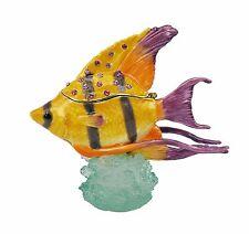 RUCINNI  Yellow Angel Fish Trinket Box