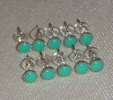 30 teal thumb tacks, Decorative push pin, Office School Decor, Cork Memory Board