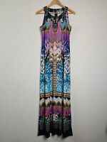 BNWT Rockmans Animal Coin Graphic Print Maxi Dress Women's Size S RRP $89.99