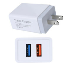 Dual 2Port USB 5V 2.4A US Plug Home Travel Fast Wall Charger Charging Adapter
