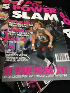 WWE Power Slam Magazine # 37 Brian Pillman WWF Wrestling Magazine + Poster