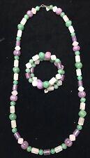 Necklace + Coiled Bracelet C-584 Vtg Jay King Dtr Polished Gemstone
