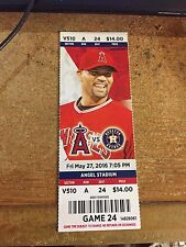 2016 LOS ANGELES ANGELS VS HOUSTON ASTROS TICKET STUB 5/27 ALBERT PUJOLS HR #570