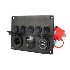 12V LED Control Switch Panel Camper Van Motorhome 5 Gang VW T5 T6 Car Boat