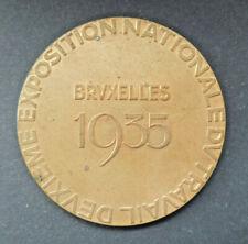 Grande Médaille Exposition internationale Travail Bruxelles 1935
