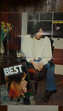 Magazine BEST n° 55  -  fevrier  1973  couv maggie bell  avec poster neil young