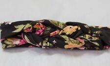 Baby Girl Toddler Celtic Knot Twist Cotton Floral Head Band BLACK ~ Fast Ship