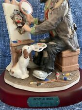 """Emmett Kelly Jr """"Artist At Work"""" Limited Edition, #3770 By Flambro -Signed"""