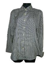 Womens Pendleton Striped Button Front Career Dress Shirt sz 4 100% Silk