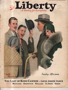 1928 Liberty December 15 - Leslie Thrasher; Gangsters; CB Kelland; Western story