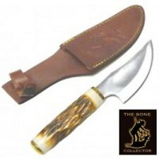 Bone Collector Knife BC-787 Blade Hunting Skinning Knife w/Leather Sheath BC787
