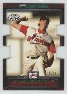 2008 TRISTAR Prospects Plus PROminent Green Die-Cut /50 Kyle Weiland #105