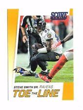 Steve smith Sr. 2016 score, Toe the line, (oro), fútbol card!!!