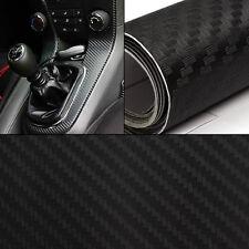 30*127cm Black 3D Carbon Fiber Vinyl Car DIY Wrap Sheet Roll Film Sticker Decal