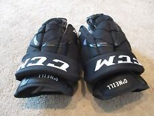 "Used CCM HG12 Pro Stock NJ Devils 14"" Hockey Gloves APX2 MX3"