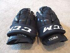 "Used CCM HG12 Pro Stock NJ Devils 14"" Hockey Gloves APX2 MX3"