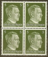 Stamp Germany Mi 784 Sc 509 Block 1941 WW2 3rd Reich Adolf Hitler Head MNH