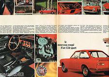 PUBLICITE ADVERTISING 055  1967  FIAT 124 coupé SPORT( 2p) version SPIDER