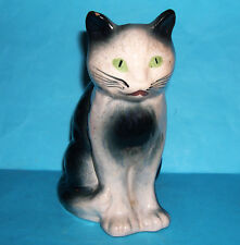 Art Pottery - Attractive Sitting Cat Ornament (Makers Mark On Base 'B').