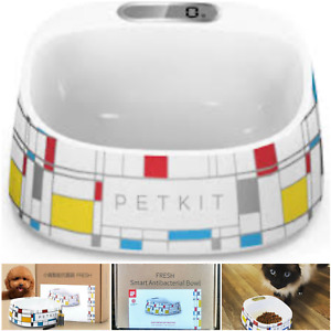 🆕️PETKIT Bowl Cat/Dog Antibacterial Mondrian Digital Dish Animal Home Pet🆕️