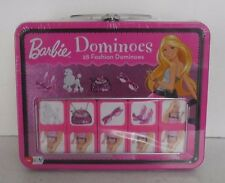 "SEALED:  ""Barbie Fashion Dominos""   in a Lunch Box Tin  (2009),  Ages 4 up Games"
