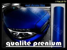 Film vinyle covering mat chrome bleu  152 x 30 cm thermoformable adhésif